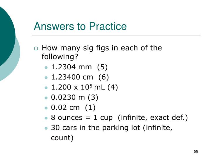 Answers to Practice