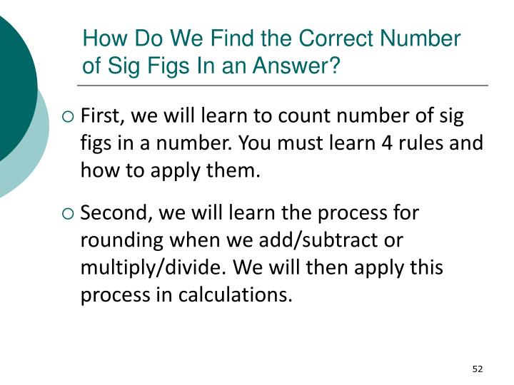 How Do We Find the Correct Number of Sig Figs In an Answer?