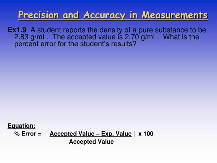 Precision and Accuracy in Measurements