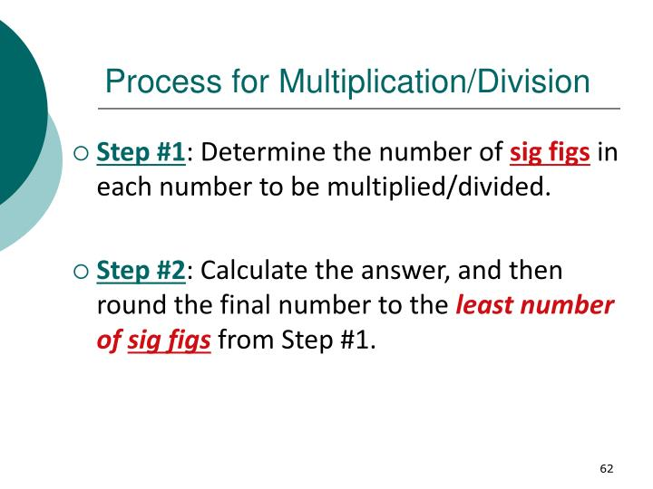 Process for Multiplication/Division