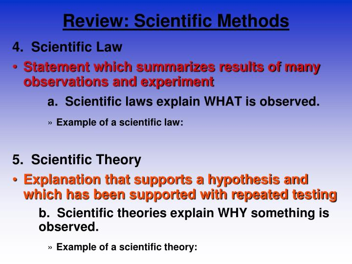 Review: Scientific Methods