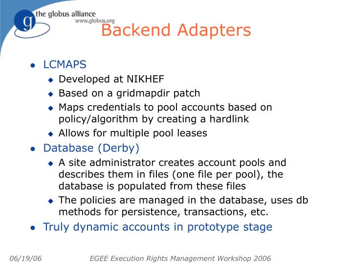 Backend Adapters