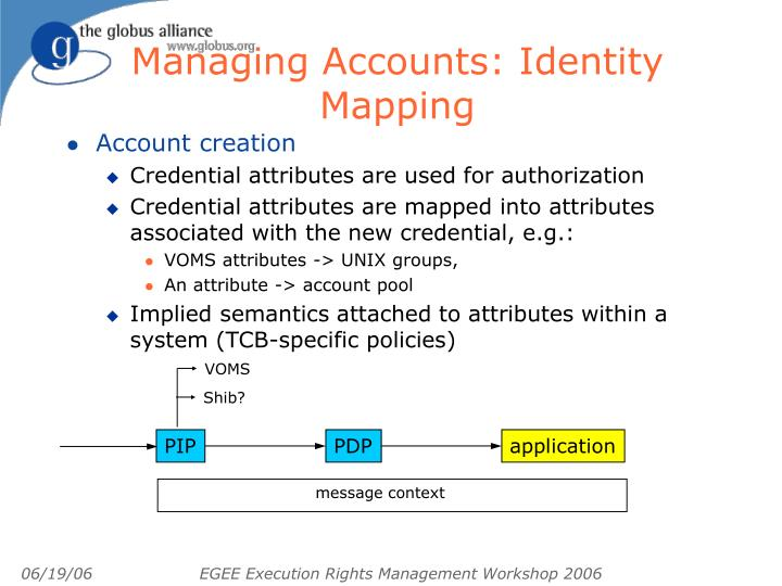 Managing Accounts: Identity Mapping