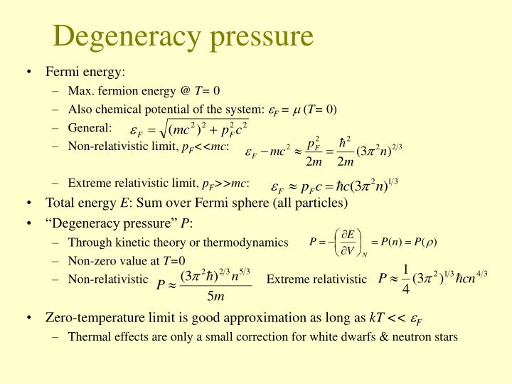 Degeneracy pressure
