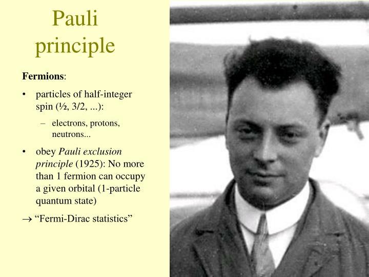 Pauli principle