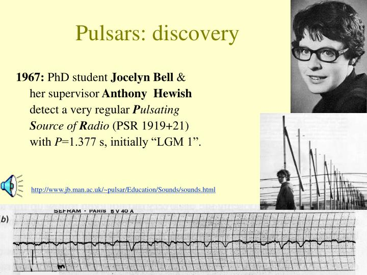 Pulsars: discovery