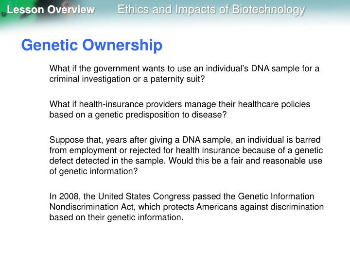 Genetic Ownership