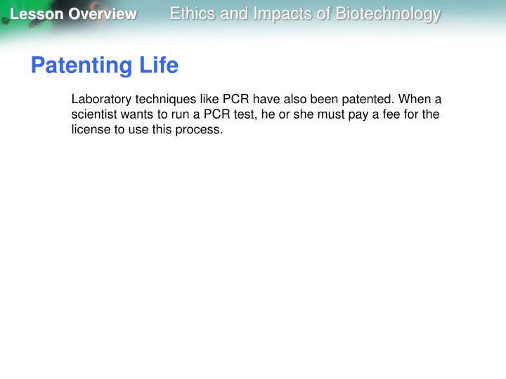 Patenting Life