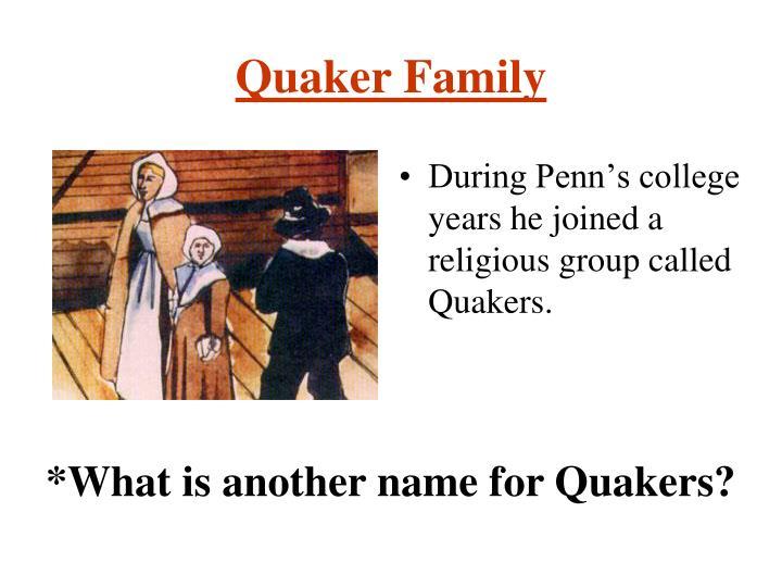 Quaker Family