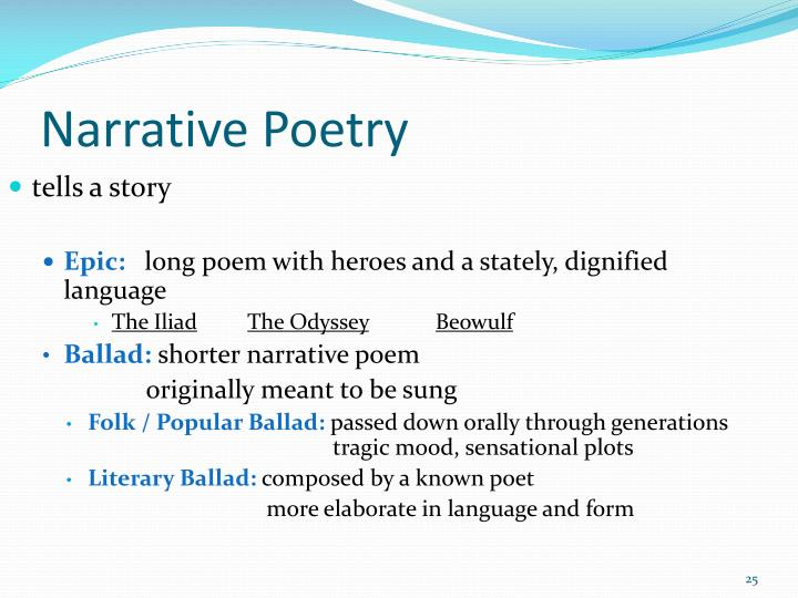 Narrative Poetry