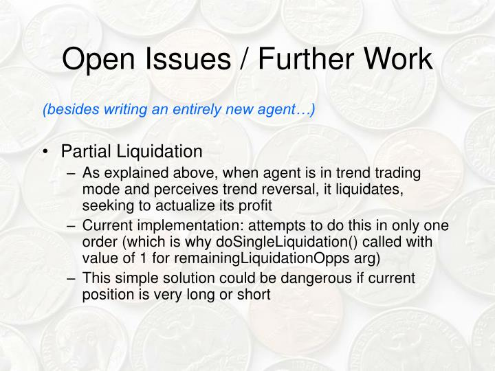 Open Issues / Further Work