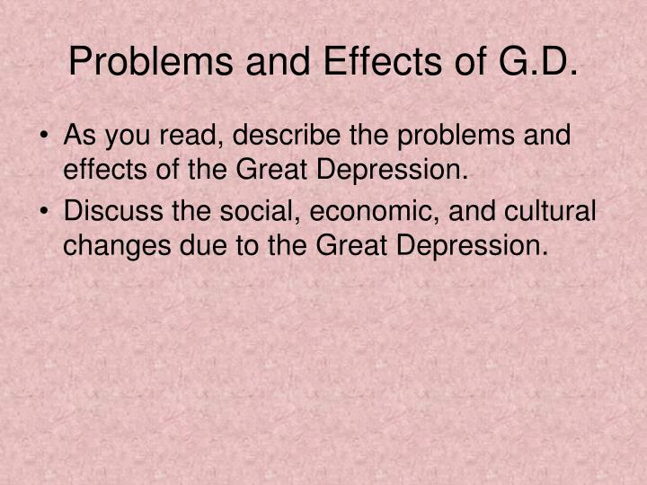 Problems and Effects of G.D.