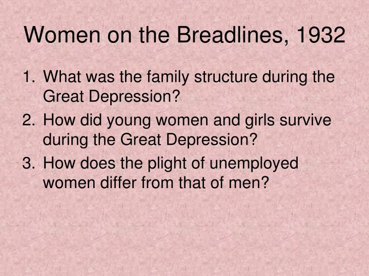 Women on the Breadlines, 1932