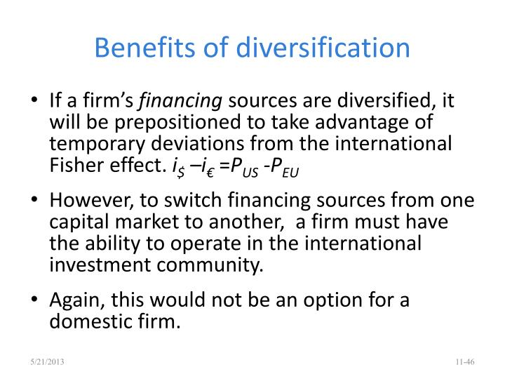 Benefits of diversification