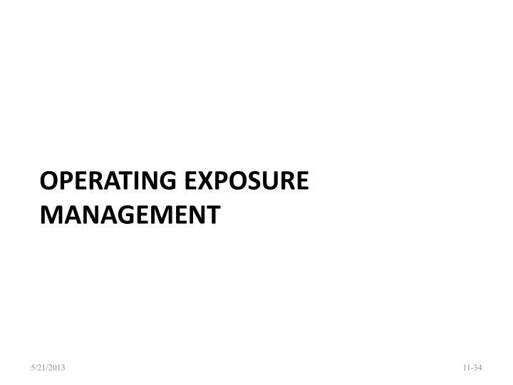 Operating exposure management
