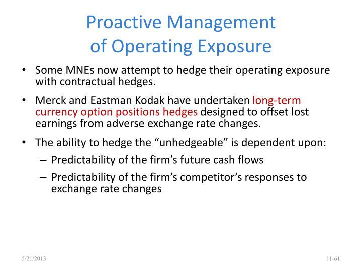 Proactive Management