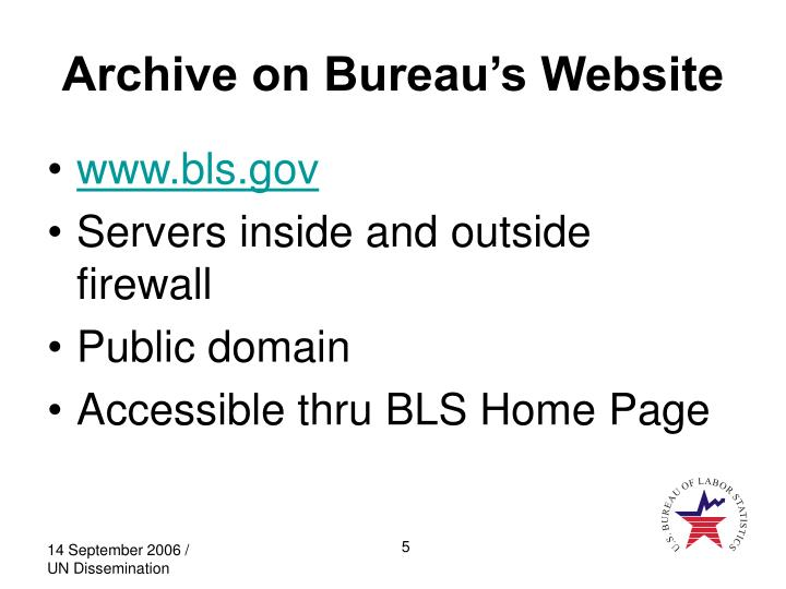 Archive on Bureau's Website