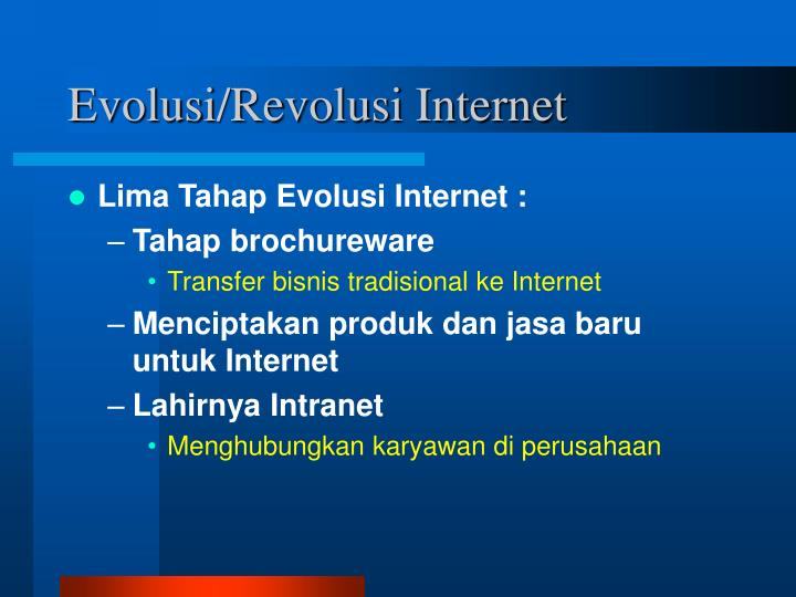 Evolusi revolusi internet