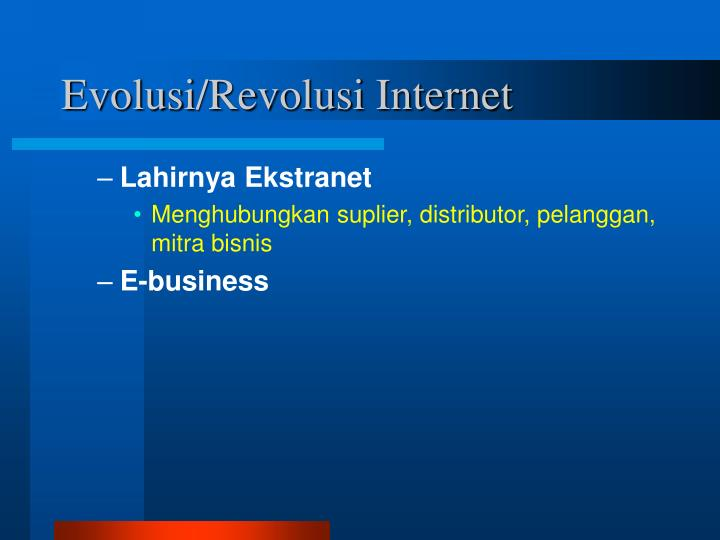 Evolusi revolusi internet1