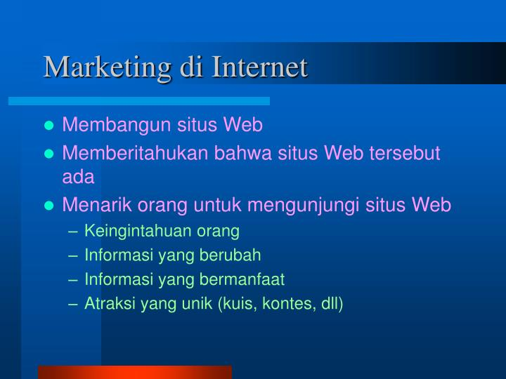 Marketing di Internet