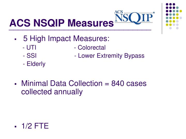 ACS NSQIP Measures