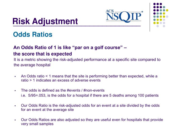 "An Odds Ratio of 1 is like ""par on a golf course"" –"