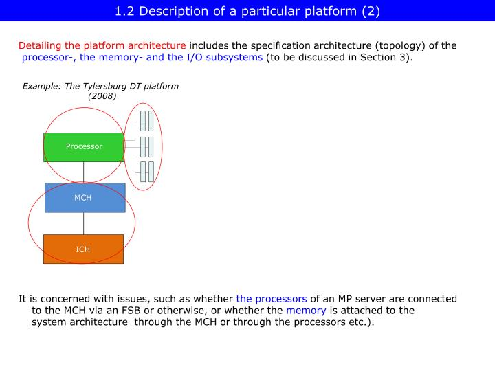 1.2 Description of a particular platform (2)