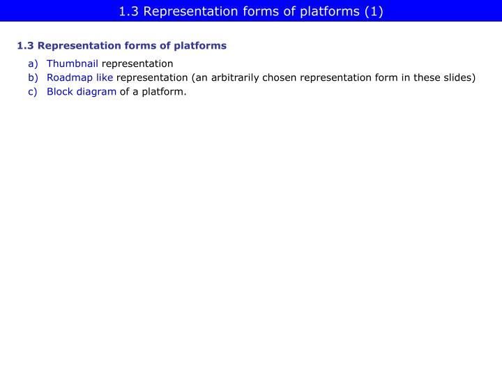 1.3 Representation forms of platforms (1)