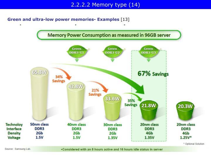 2.2.2.2 Memory type (14)