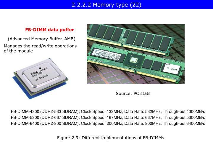 2.2.2.2 Memory type (22)