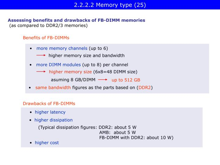 2.2.2.2 Memory type (25)