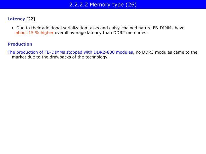 2.2.2.2 Memory type (26)
