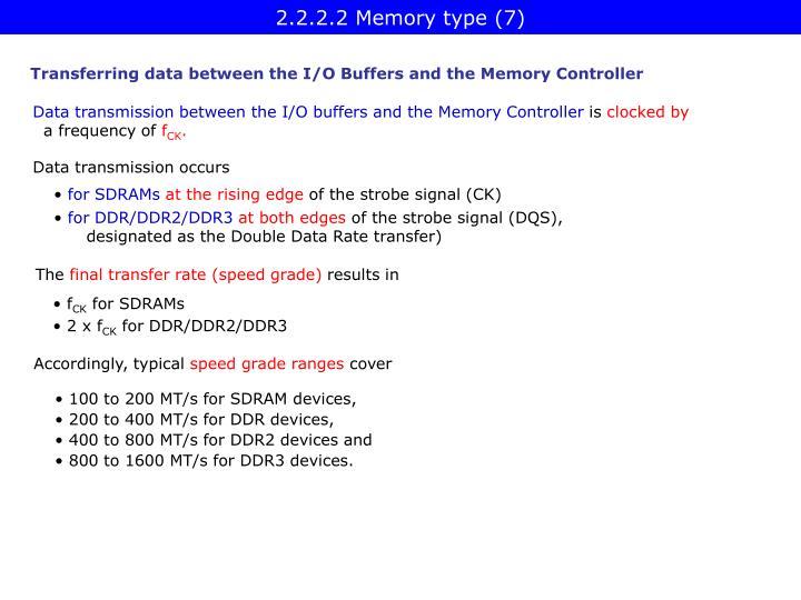 2.2.2.2 Memory type (7)
