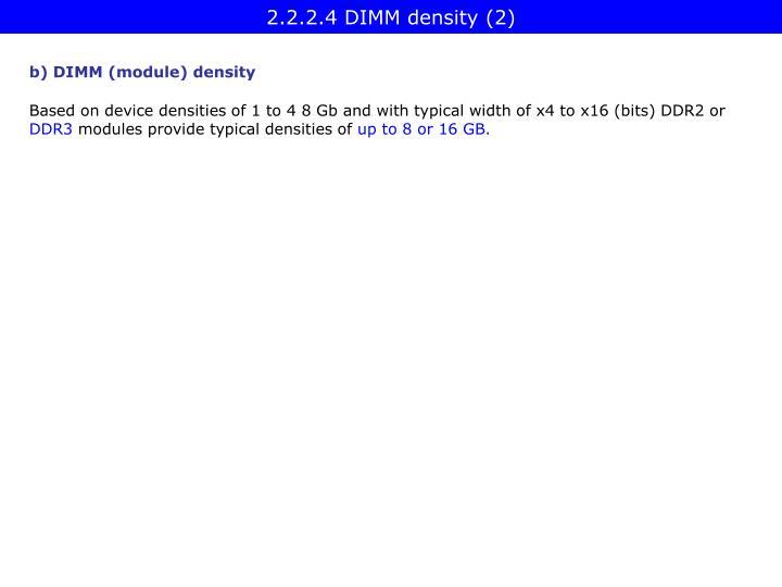 2.2.2.4 DIMM density (2)