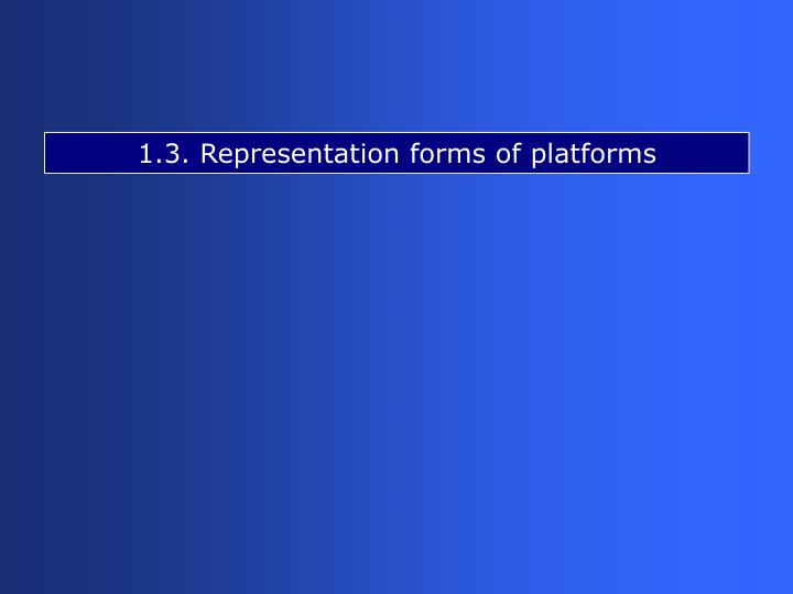 1.3. Representation forms of platforms