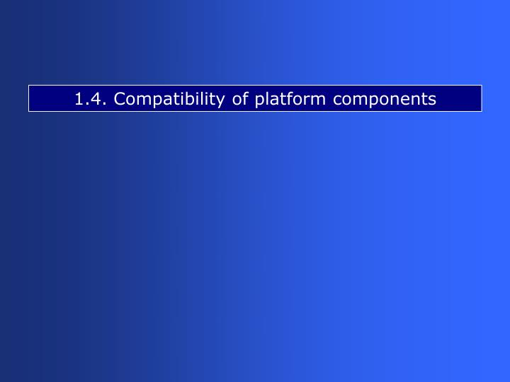 1.4. Compatibility of platform components