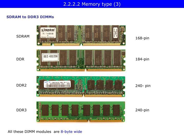 2.2.2.2 Memory type (3)