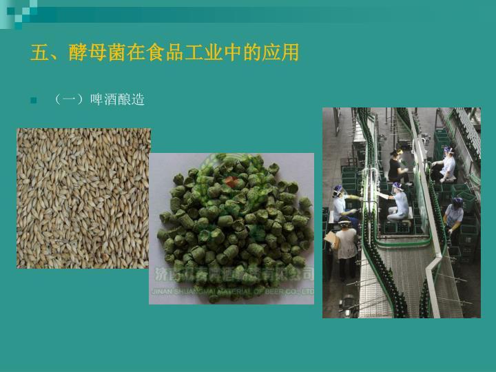 五、酵母菌在食品工业中的应用