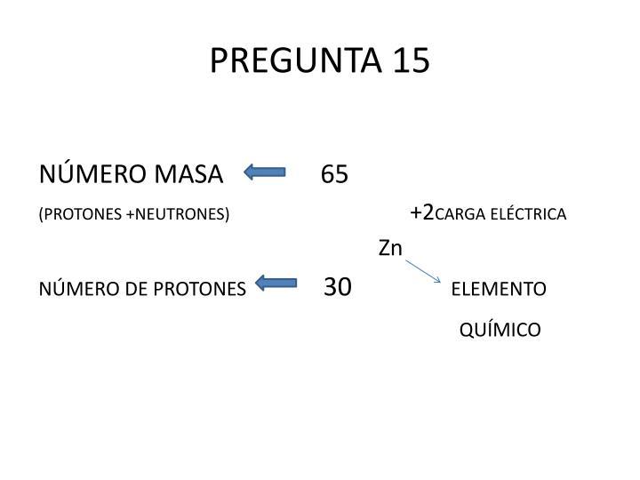 PREGUNTA 15