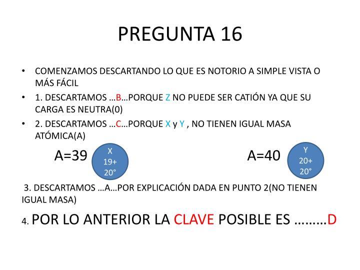 PREGUNTA 16