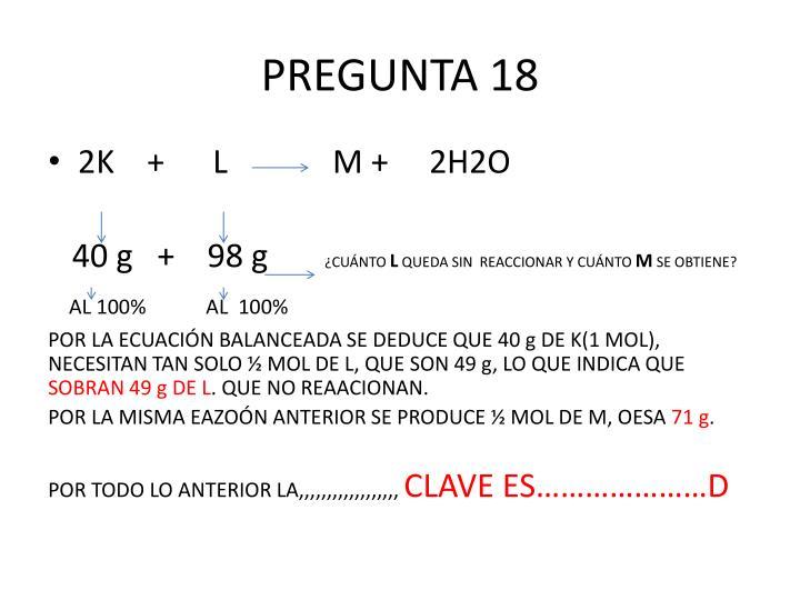 PREGUNTA 18