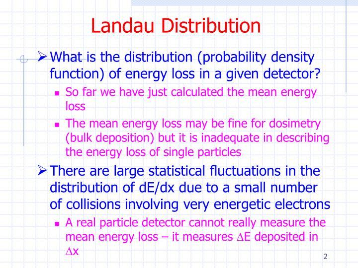 Landau Distribution