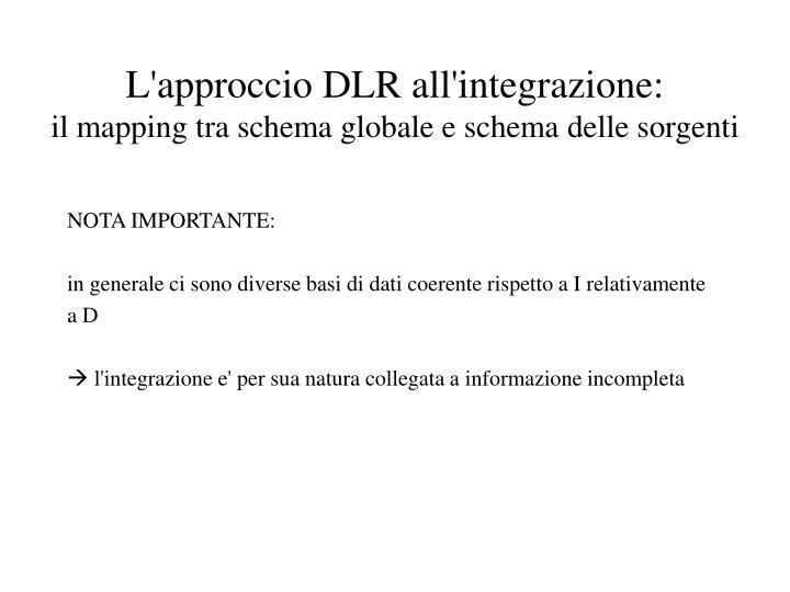 L'approccio DLR all'integrazione: