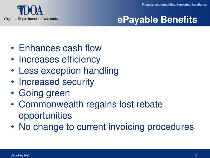 ePayable Benefits
