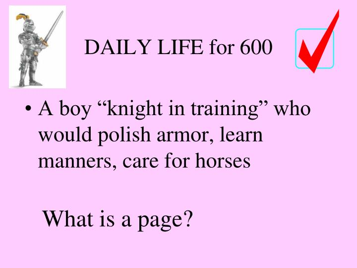 DAILY LIFE for 600