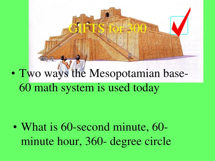 Two ways the Mesopotamian base-60 math system is used today