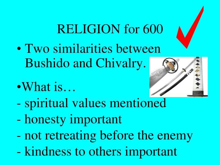 RELIGION for 600