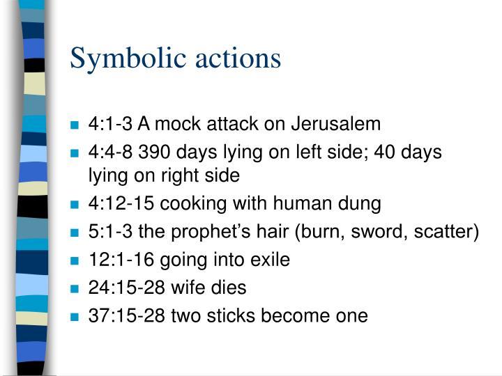 Symbolic actions