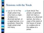 tensions with the torah