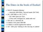 the dates in the book of ezekiel